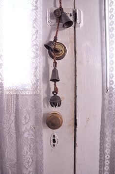 vintage bells plus cord magick equals a very magickal doorbell indeed!!- Pinned by The Mystic's Emporium on Etsy