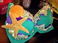Hot pink bedazzled mermaid Fantasy Halloween princess by Purddiee