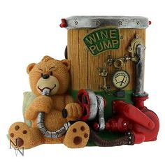 Bad Taste Bears Topper Pen And Holder Teddy Rude Resin Figurine New Boxed Other Bar Tools & Accessories