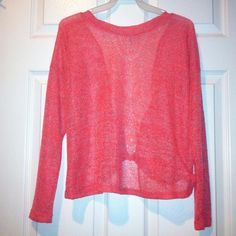 Knit Long Sleeve Top. NEW!! Color is coral. Sand is shown. Size is Medium. No trades, No low balling. My website www.divineandsexy.us use code PM get 20% off entire purchase. Free shipping on purchases over $20!  Cefion Tops