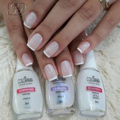 Discover the 10 most popular nail polish colors of all time! - My Nails French Nails, French Manicure Nails, My Nails, Wedding Nail Colors, Wedding Nails, Bling Wedding, Gorgeous Nails, Pretty Nails, Super Nails