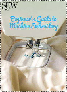 Get started today with machine embroidery. Learn everything you need to know in Beginner's Guide to Machine Embroidery.