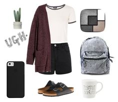"""""""Casual"""" by dwatters ❤ liked on Polyvore featuring Ally Fashion, Birkenstock, Topshop, H&M, Yves Saint Laurent and Prada"""