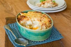 Smoked haddock and cheesy egg bake.  Sometimes the simplest recipes can give you the most delicious results, here's the proof!