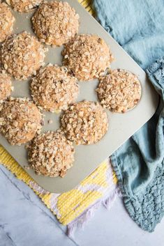 These Healthy Sweet Potato Muffins are perfectly moist, and lightly sweet, topped with a crunchy nut and oat streusel. Tasty Vegetarian Recipes, Healthy Recipes, Healthy Food, Alkaline Recipes, Healthy Desserts, Fish Recipes, Lunch Recipes, Muffin Recipes, Breakfast Recipes