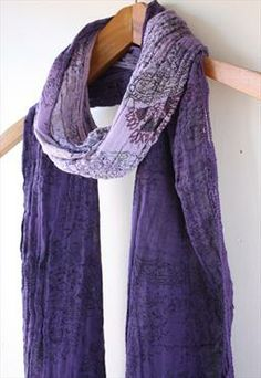 Bohemian Purple Fade Effect Scarf