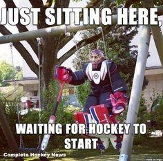 Waiting for hockey to start
