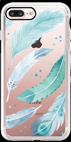 Casetify iPhone 7 Plus Case and other Feather Fever iPhone Covers Blue Feather - Blue Iphone 8 Case - Ideas of Blue Iphone 8 Case. - Casetify iPhone 7 Plus Case and other Feather Fever iPhone Covers Blue Feathers by Four Wet Feet Studio Cheap Iphone 7 Cases, Cute Phone Cases, Iphone Phone Cases, Iphone 7 Plus Cases, Iphone Login, Coque Iphone 4, Coque Ipad, Apple Coque, Iphone Cover