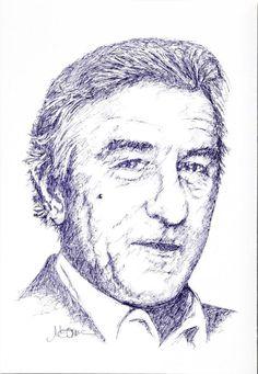 Titolo: Robert De Niro Tecnica: Bic (incazzata) Tempo d'esecuzione: 13 minuti #portrait #art #RobertDeNiro