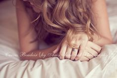 Love the softness, focus on the ring for brides