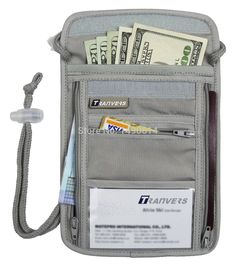 Multifunction Travel Security Neck Pouch Travel Neck Wallet Anti-theft  Security Travel Wallet Boarding Pass Holder Neck Bag