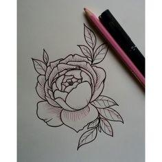 English Rose tattoo sketch // Vanessa Core