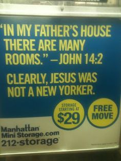 Manhattan Mini Storage Ads Make Our Commutes A Lot More Entertaining