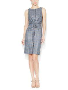 Wool Draped Waist Dress by Carolina Herrera at Gilt