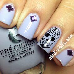 Precision Nail Lacquer And Opi'S Mariah Carey Holiday Collection Nails Now, Love Nails, How To Do Nails, Seasonal Nails, Holiday Nails, Sugar Skull Nails, Classy Nail Designs, Nail Candy, Creative Nails