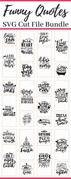 Quotes for Fun QUOTATION Image : As the quote says Description 25 Funny Quotes SVG cut file bundle that is perfect for diy projects using Cricut or Silhouette machines to make vinyl decals for decorating tumblers shirts hats totes and so much more! Silhouette Projects, Silhouette Design, Silouette Cameo Projects, Cricut Vinyl, Vinyl Decals, Phrase Cute, Cricut Tutorials, Silhouette Machine, Cricut Creations