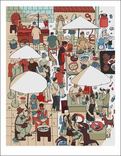 Street Food Scene, Josh Cochran