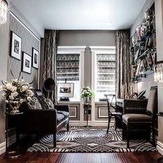 Gray Office Design