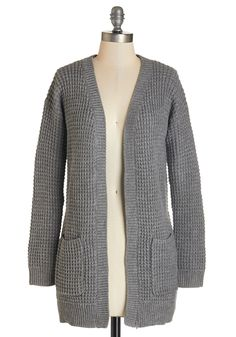 Gotta Jete! Cardigan in Stone. After lacing up your slippers, you flutter to the center of the ballet studio in this grey cardigan. #grey #modcloth