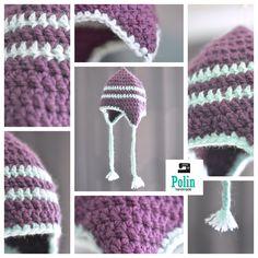 Polin Handmade : Bonnet crochet cache-oreille + Tuto