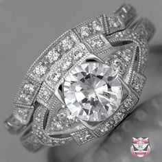 Art Deco Wedding Ring Sets | The Wedding Specialists  DREAM RING!!!