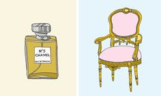 Kristina Hultkrantz illustrations - definitely want a Chanel perfume illustration for my vanity