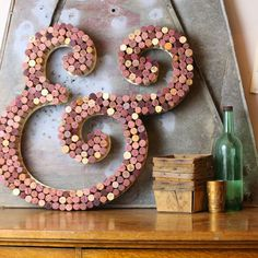Wine Cork Letter | CraftCuts.com Use up some of those corks sitting around your house and add something colorful to your room