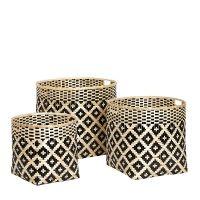 Panier bamboo Hübsch