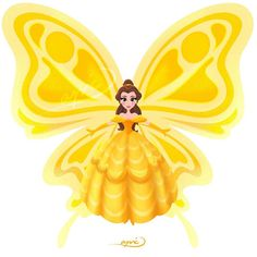 Belle [as a butterfly] (Drawing by ApicolloDraws Butterfly Drawing, Butterfly Fairy, Butterfly Kisses, Disney And Dreamworks, Disney Pixar, Walt Disney, Disney Fan Art, Disney Love, Every Disney Princess