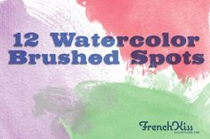 Brushes ~ Watrcolor Textured Spot Brushes by French Kiss Collections ~ Creative Market