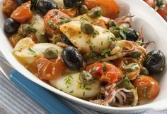 Mediterranean Seppioline Recipe - The recipe for Small Recipes Quick Healthy Meals, Healthy Snacks, Healthy Eating, Healthy Recipes, University Food, Food Program, Fish Dishes, Fish Recipes, Italian Recipes