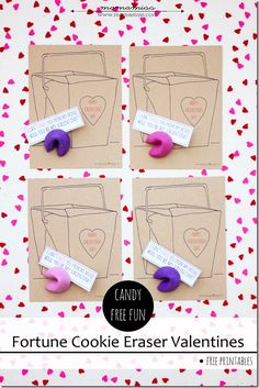 Adorable!! Free Printable Fortune Cookie Valentines.