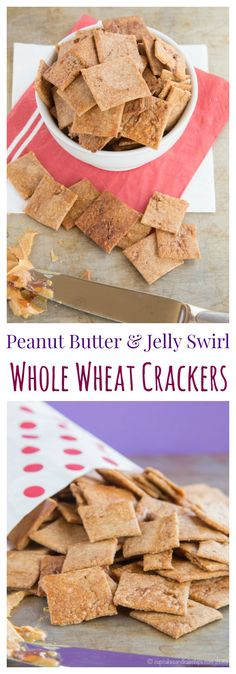 Peanut Butter and Jelly Swirl Whole Wheat Crackers - combine two kid ...