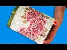 Lata de Leite com Barbante e Decoupage Reciclagem - YouTube