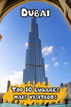 Quais os principais pontos turísticos de Dubai? Veja o mapa e fotos dos lugares mais visitados em Dubai, cidade base para turismo nos Emirados Árabes.