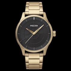 1b219cfc1a0 Police men s jet gold black dial watch