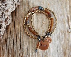 love and light bracelet yoga bracelet bohemian jewelry by OmSaha
