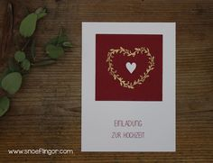 #hochzeit #einladung #snoeflingor #biancamoschner #wirsagenja Paper Mill, Invites Wedding, Invitation Cards, Cordial, Handarbeit, Gifts, Craft