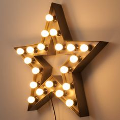 ALABAMA metal industrial star wall light H 80cm