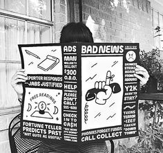@sorrysorrytown Repost from @letterette_, receiving some very Bad News  #zine #badnews