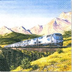 Amtrak Train Party Invitation Cards with Envelopes 8 ct