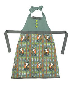 Sitting Foxes Apron | zulily