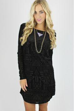 Geo Velvet Shift Dress $39.99 #velvet #shiftdress #sophieandtrey #geoprint