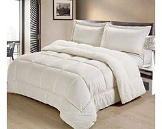 Cathay Home Fashions Reversible Sherpa Faux Fur Down Alternative Comforter Set Full Ivory * Visit the image link more details.
