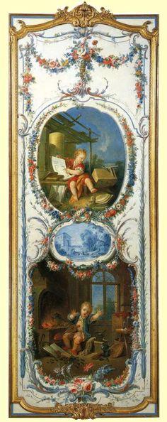 54 Arts and Sciences, L'architecture et la chimie, 1750-52 François Boucher