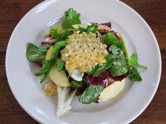 Apple, Radicchio, & Arugula Salad with Parmesan Crisps