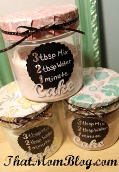 """3 2 1 Cake"" Awesome gift idea! Creative, easy and good for your diet :)"