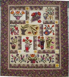Les Fleurs Du Jardin Quilt for sale at Quilt Gallery