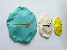 Creative Faceted Wall Clocks by Raw Dezign