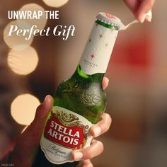 It's gift giving season and there's no better way to top off your holiday celebrations than with Stella Artois. Unwrap the balanced, refreshing flavor that's made for the holidays.